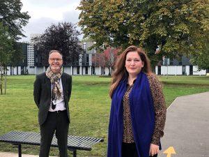 MP Jane Stevenson with Pricipal Craig Cooling at NEWA